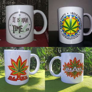 Set of 4 dagga party mugs